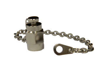 SMA Male Dust Cap with chain