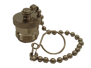 N Female Dust Cap with Chain