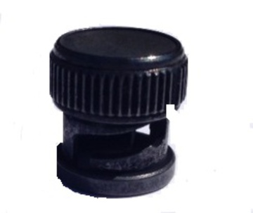 BNC Male Dust Cap Black Finish